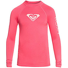Гидрофутболка детская Roxy Wholehearted Rouge Pink/White