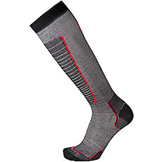 Носки высокие Mico Basic Ski Sock Nero Rosso