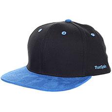Бейсболка с прямым козырьком TrueSpin 2 Tone Blank Next Level Black/Blue
