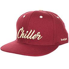 Бейсболка с прямым козырьком TrueSpin Chiller Bordeaux