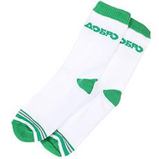 Носки высокие Запорожец Добро Полосы Махровые Белые с зеленым