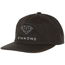 Бейсболка классическая Diamond Futura Sign Unconstructed Black