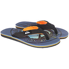 Вьетнамки Quiksilver Molokai Layback Black/Orange/Green