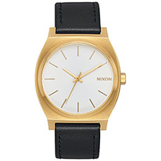 Кварцевые часы Nixon Time Teller Gold/White Sunray/Black