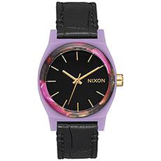 Кварцевые часы женские Nixon Medium Time Teller Leather