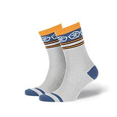Носки средние Запорожец Полосы 2 Светло-серый
