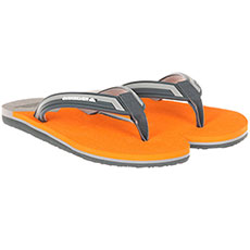 Вьетнамки Quiksilver Molokai New Wave Grey/Orange/Grey