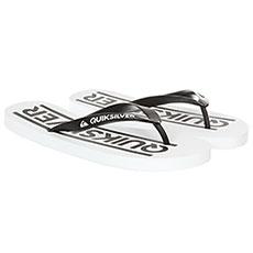 Вьетнамки Quiksilver Java Wordmark Black/White/White