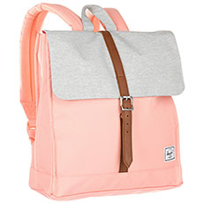 Рюкзак Herschel City Mid-Volume Peach/Light Grey Crosshatch/Tan Synthetic Leather