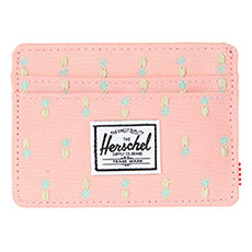 Визитница Herschel Charlie Rfid Peach Pineapple Embroidery