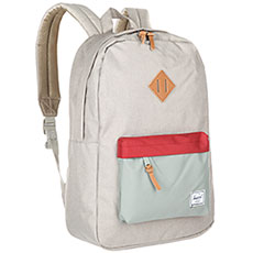 Рюкзак городской Herschel Heritage Light Khaki Crosshatch/Shadow/Brick Red/Tan Synthe