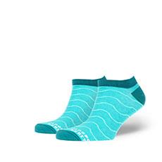 Носки низкие Запорожец Волны Светло-зеленые
