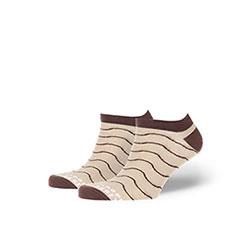 Носки низкие Запорожец Волны Бежевые