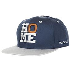Бейсболка с прямым козырьком TrueSpin 4 Letters Home Blue/Grey