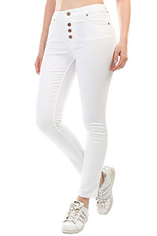 Джинсы узкие женские Roxy Longislandpant White