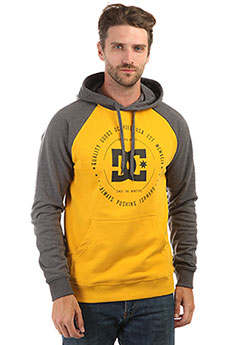 Толстовка кенгуру DC Rebuilt Heather Charcoal/Yellow