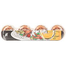Колеса для скейтборда Footwork Coctail Orange/White 60D 53 mm