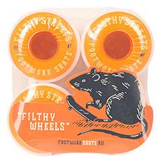 Колеса для скейтборда Footwork Filthy White/Orange 85A 54 mm