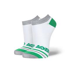 Носки низкие женские Запорожец Добро Полосы Белые/Зеленые