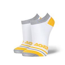 Носки низкие женские Запорожец Добро Полосы Белые/Желтые