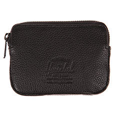 Кошелек Herschel Oxford Pouch Leather Black Pebbled Leather