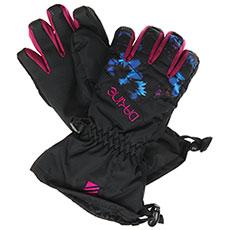 Перчатки сноубордические детские Dakine Tracker Glove Blue Flowers