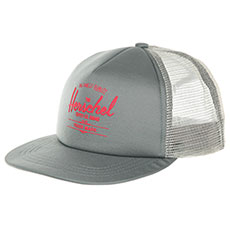 Бейсболка с сеткой Herschel Whaler Mesh Soft Brim Shadow/Hot Coral