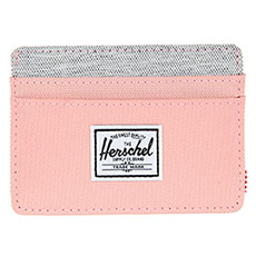 Визитница Herschel Charlie Rfid Peach/Light Grey Crosshatch