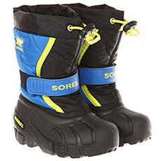 Ботинки зимние детский Sorel Childrens Flurry Black Super Blue