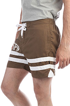 Шорты пляжные TrueSpin Board Shorts Brown
