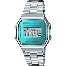 Электронные часы Casio Collection A-168wem-2e Silver