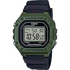 Электронные часы Casio Collection w-218h-3a Green