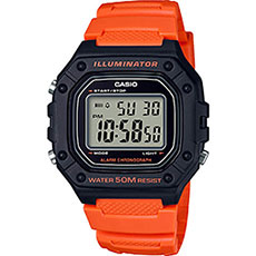 Электронные часы Casio Collection w-218h-4b2 Orange