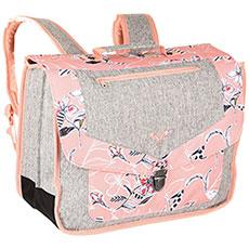 Рюкзак школьный детский Roxy Take A Hike Coral Almond Trellis
