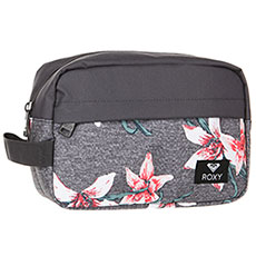 Косметичка женская Roxy Beautifully Charcoal Heather Flower