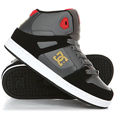 Кеды высокие детские DC Pure Ht Grey/Black/Red