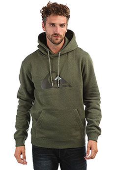 Толстовка кенгуру QUIKSILVER Big Logo Hood Real Light Grey Heather