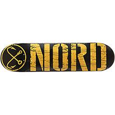 Дека для скейтборда Nord ЛОГО КЛАССИКА Yellow/Black 32 x 8.125 (20.6 см)