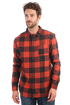 Рубашка в клетку QUIKSILVER Motherflyfla Barn Red Motherfly C