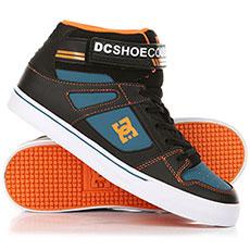 Кеды высокие детские DC Pure High-top Ev Black/Orange/Blue