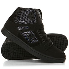 Кеды высокие женские DC Pure High-Top SE Black/Silver/Black