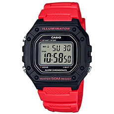 Электронные часы Casio Collection w-218h-4bvef Black/Pink