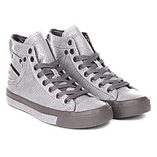 Keды высокиe жeнскиe Diesel Exposure Iv White/Gunmetal