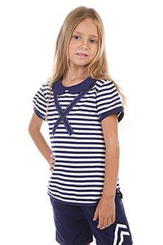 Поло детское ANTA W36827114 Синее