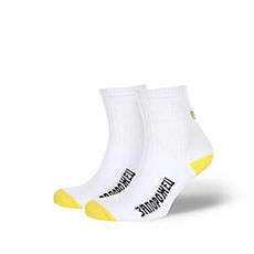 Носки женские Запорожец Утёнок Backside Белый/Желтый