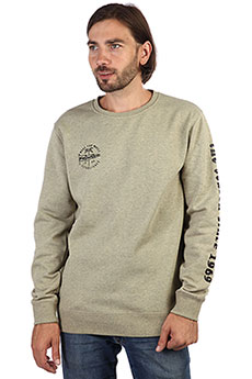 Толстовка классическая Rip Curl Iconic Crew Fleece Slate Green Marle