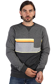 Толстовка свитшот Rip Curl Yarn Dyed Stripe Crew Fleece Dark Marle