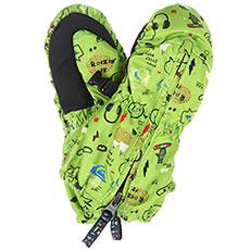 Варежки сноубордические детские QUIKSILVER Indie Kids Mitt Glove Green moam Tatt