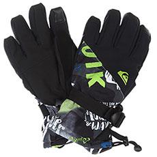 Перчатки сноубордические детские QUIKSILVER Mission Yth Glove Black construct