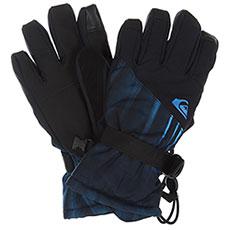Перчатки сноубордические детские QUIKSILVER Mission Yth Glove Daphne Blue stellar
